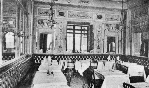 Café de la Régence, Paris, Showing the Typical Continental Arrangement of Seats