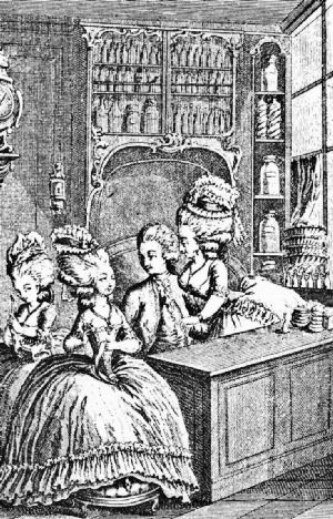 The Cashier's Counter in a Paris Coffee House of 1782