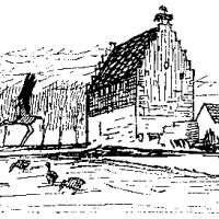 Ausmalbilder Brennendes Haus   Malbild