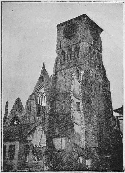 (Newspaper Illustrations) THE PARISH CHURCH AFTER THE FIRST DAYS OF THE BOMBARDMENT