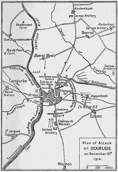 Plan of Attack on DIXMUDE on November 10th 1914.
