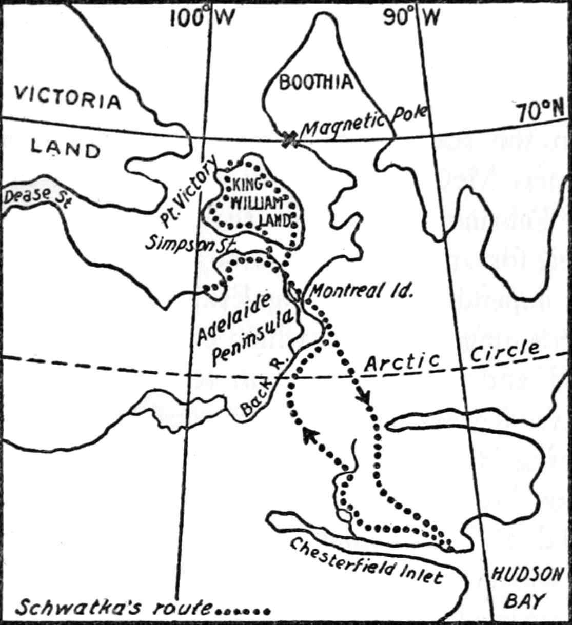 Schwa a's route to and from king william land