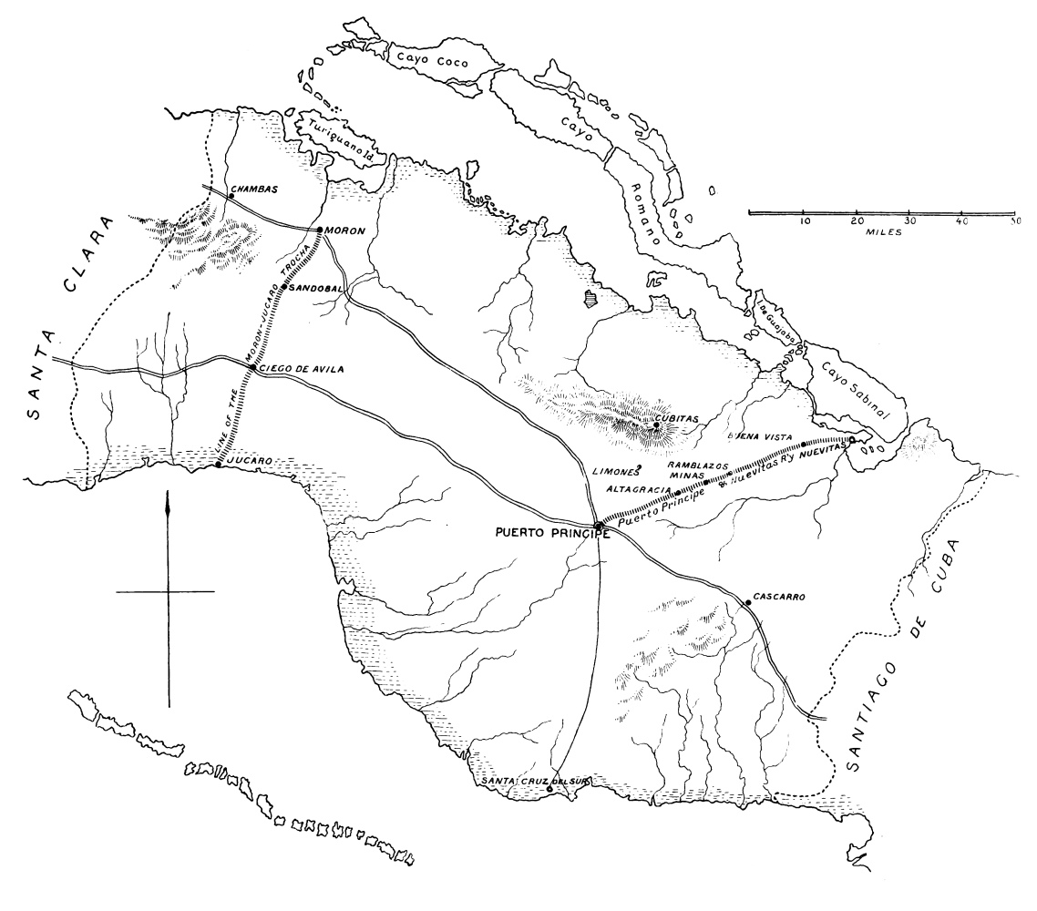 Sketch map of the province of puerto principe