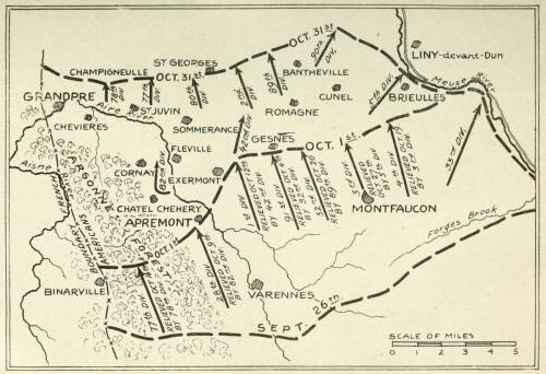 small resolution of map no 5 divisions in the second stage of the meuse argonne battle october 1st 31st