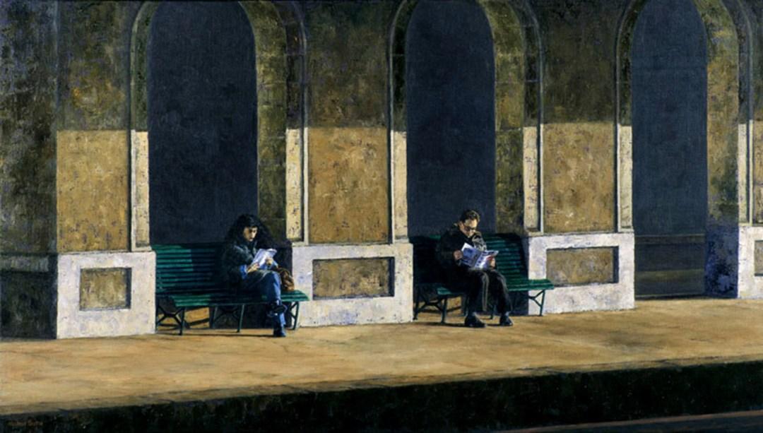 GARE DE MORGES, 1996, 80x142