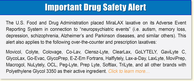 What are the side effects of MiraLAX?