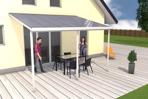Terrassendach weiß 3x4m