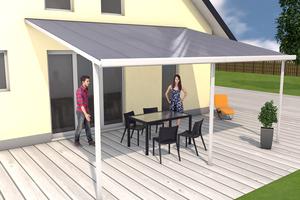 Terrassendach weiß 4x5m