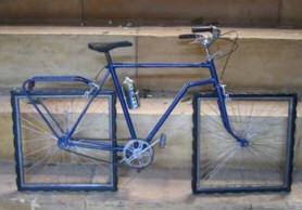Vierkante wielen op Cycle