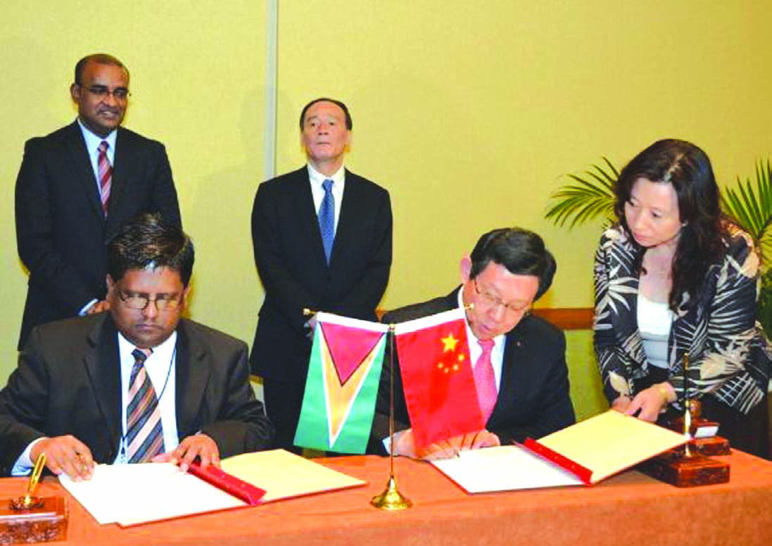 Guyana, China sign Gy$940M grant for projects