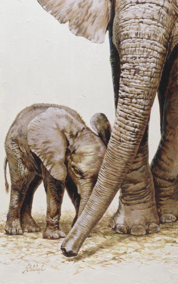 Guy Coheleach Painting of Bull Elephant
