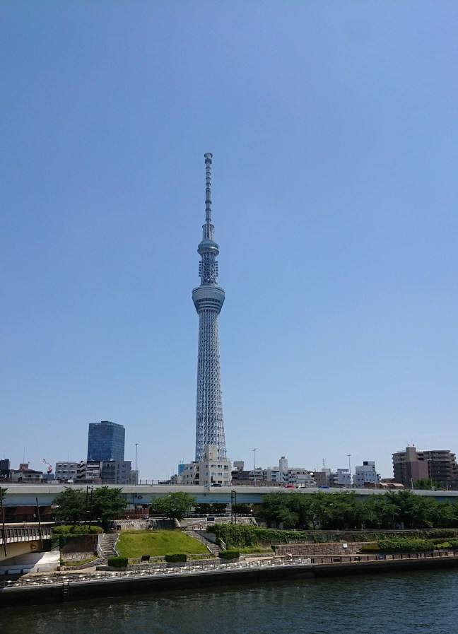 Tokyo Skytree, seen from Sumida River