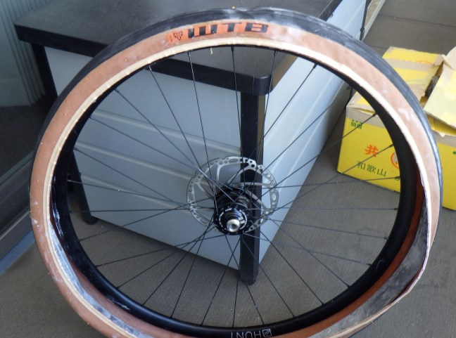One bead on the rim, and innertube in place