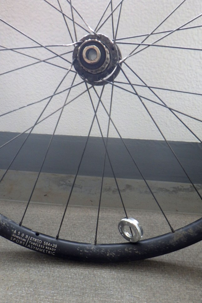 Bicycle wheel with spoke wrench