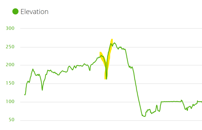 Cycling elevation for Templeton Bridge