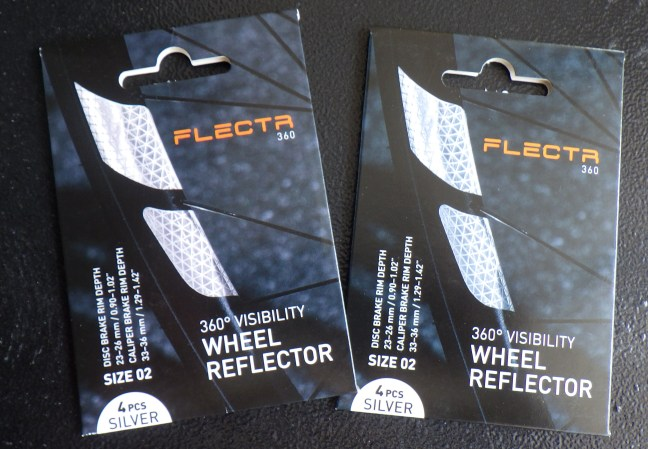 Reflective tape for bicycle wheels