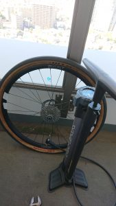 Bicycle wheel and pump