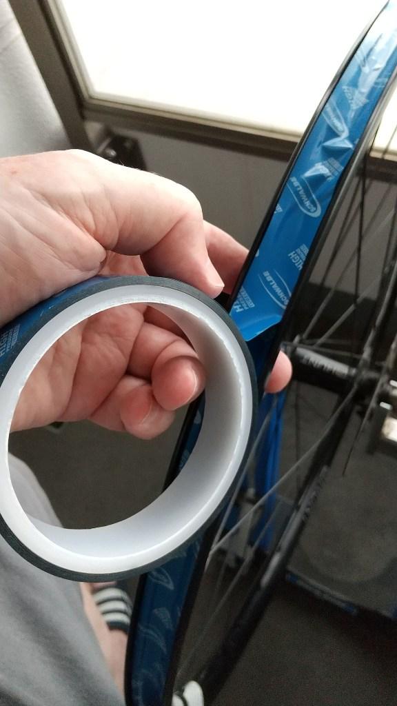 Applying rim tape and seeing wrinkles