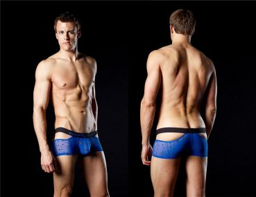 Good Devil Sheer Balls Boxer royalblau