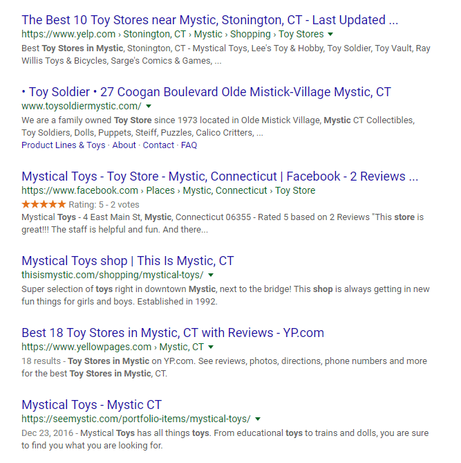 More of the SEO results on this page