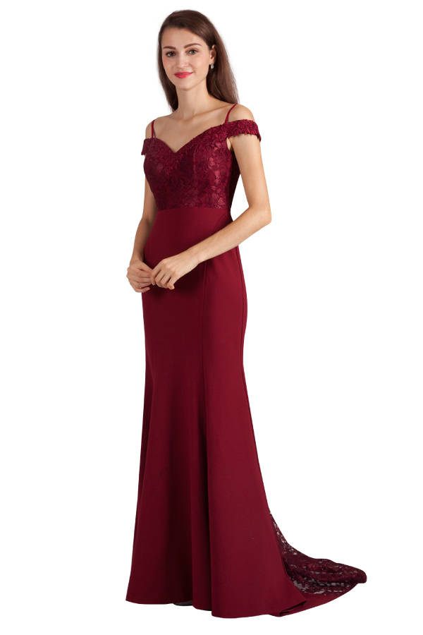Miss Anne 217440 long gown with train $250