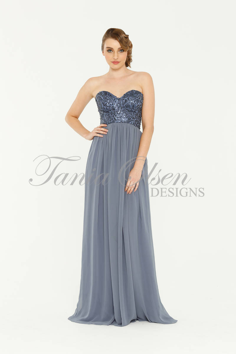 Tania Olsen TO43 strapless long dress with sequin bodice size 10 WAS $299 NOW $150