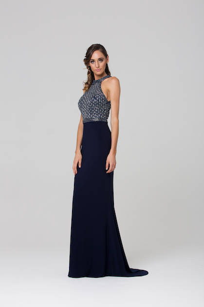 Poseur PO76 Elegant High Neck Formal Dress $450