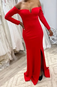 Miss Anne 218223 long sleeved long gown was $220    NOW $195