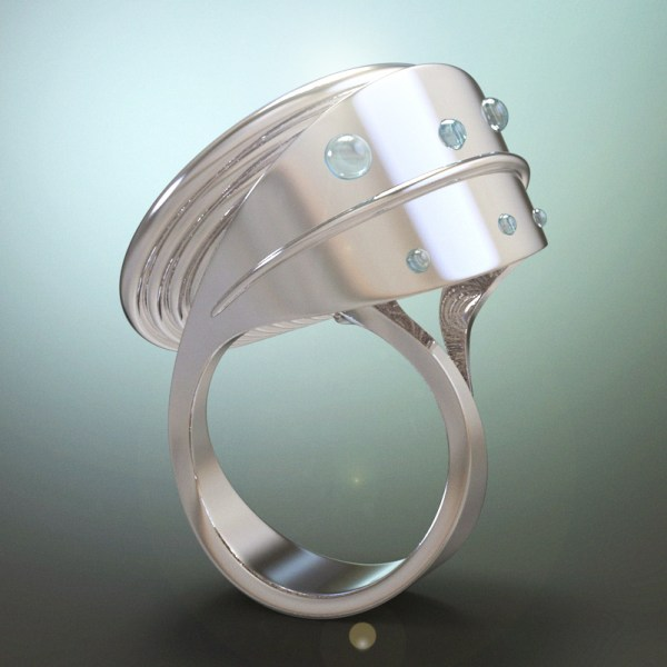 Francy's Flower – Sterling Silver, Mabè Pearl and Aquamarine