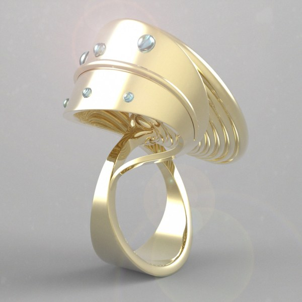 Francy's Flower – 14k Yellow Gold, Mabè Pearl and Aquamarine