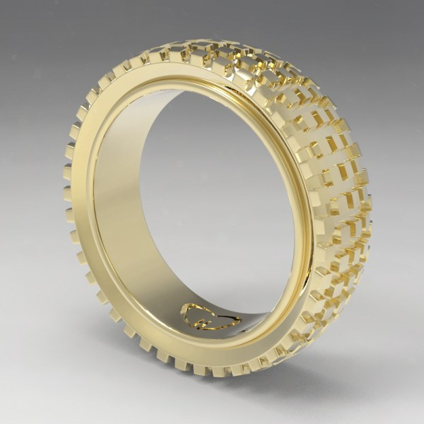 Motocross – 14k Yellow Gold
