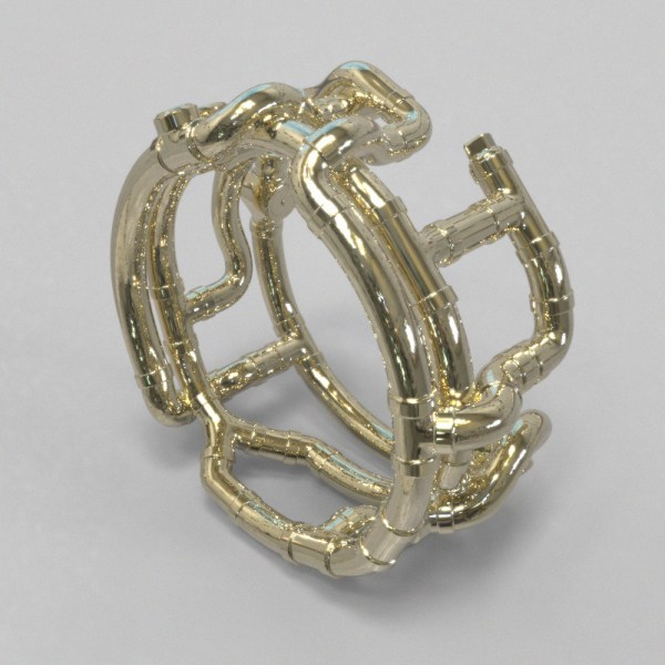 Pipes – 14k Yellow Gold