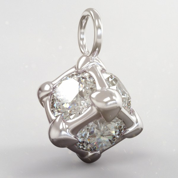 Six – D – High Gloss White Gold and Diamonds