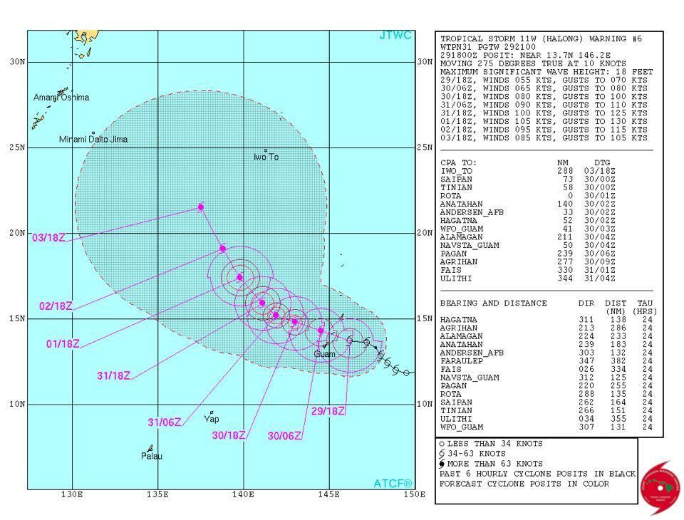 台風11号 Halong