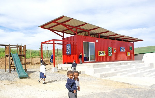 Container Homes Repurposed Shipping Containers Vissershok Primary School South Africa Contemporary Recycled Decor Converted Classroom