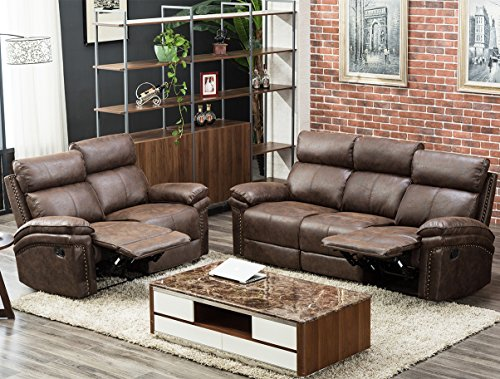 best sectional sofas los angeles paletten sofa ruckenlehne harper & bright designs recliner set (brown ...