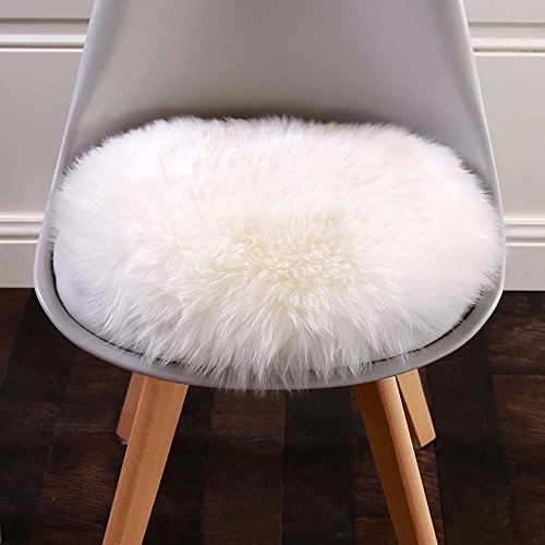 sleeper lounge chair electric hydraulic hair styling chairs cuteshower round faux fur sheepskin rugs soft plush seat cover cushion pad for living ...