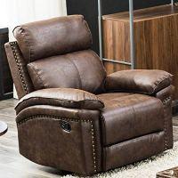 Romatpretty Recliner Couch Leather Sofa Single Sofa Home ...
