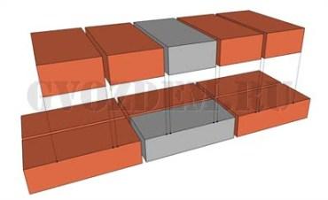 Кладка в 1 кирпич - перевязка рядов кладки. Вид с фасада