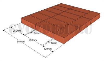 Кладка в два с половиной кирпича (2,5) – 640 мм