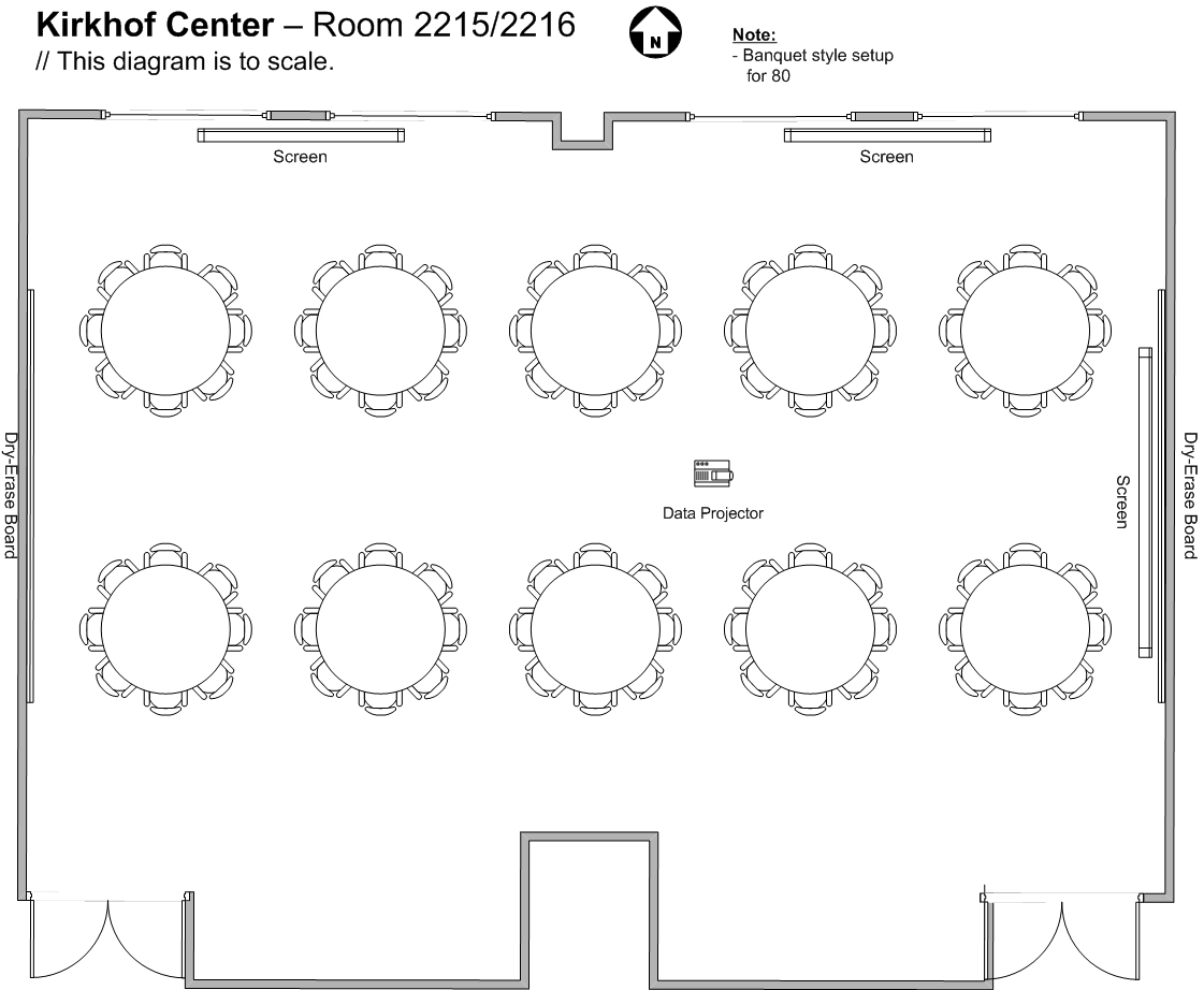 Banquet Table Setup Diagram