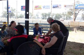 Steph Cooke MP chatting to volunteers and guests -- Illabo Motorsport Park March 10, 2021