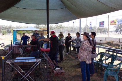 Gasworks Volunteers and Guests listening to speeches -- Illabo Motorsport Park March 10, 2021