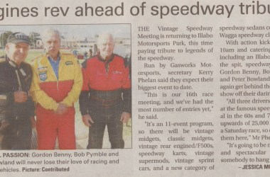 Engines rev ahead of speedway tribute