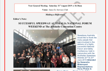 The Official Newsletter of the Gasworks Car Club Junee NSW Issue 005 - August 2019 Cover