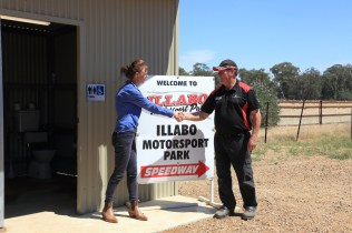 Steph Cooke MP and Kerry Phelan opening the new unisex, accessible amenity block at Illabo Motorsport Park Steph Cooke MP giving the Opening Speechfor the new amenity block -- Illabo Motorsport Park March 10, 2021