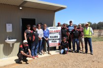 Steph Cooke MP with Gasworks Motorsports Volunteers at new amenities block opening -- Illabo Motorsport Park March 10, 2021