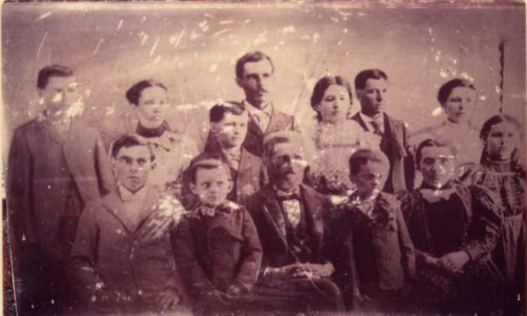Edward and Sarah Hale family in color b