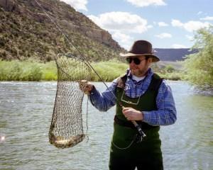 Gary fishing San Juan River.Durango CO 1998 copy