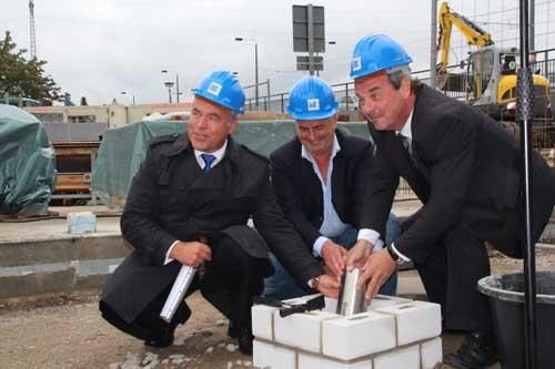 Grundsteinlegung am Bahnhofsberg  GWC errichtet attraktiven Wohnungsneubau  Gebudewirtschaft